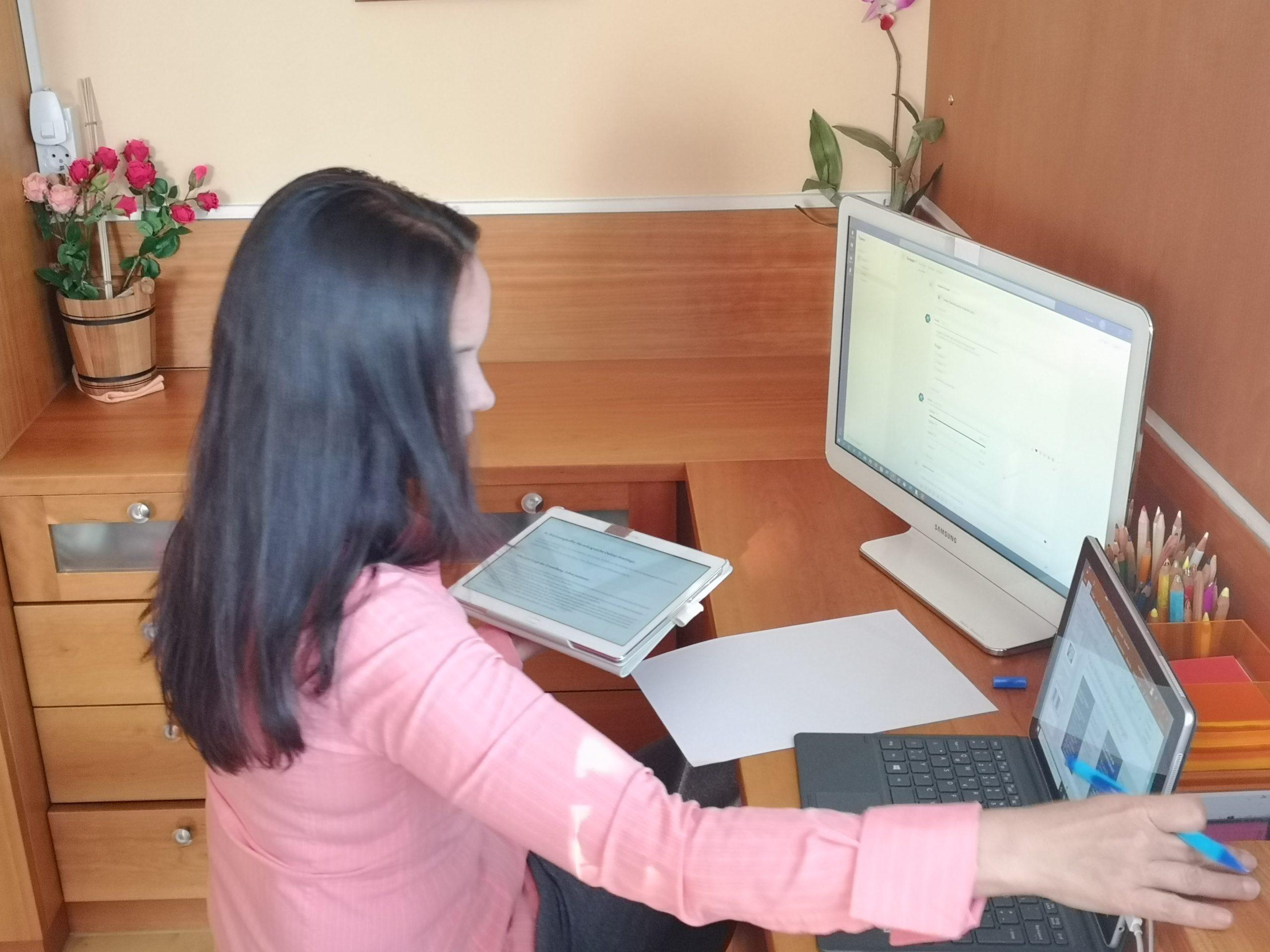 Zusammenarbeit in virtuellen Meetings